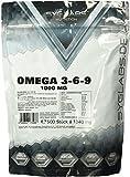 Syglabs Nutrition Omega 3 - 6 - 9, 1000 mg hochdosiert + Vitamin E - 500 Kapseln