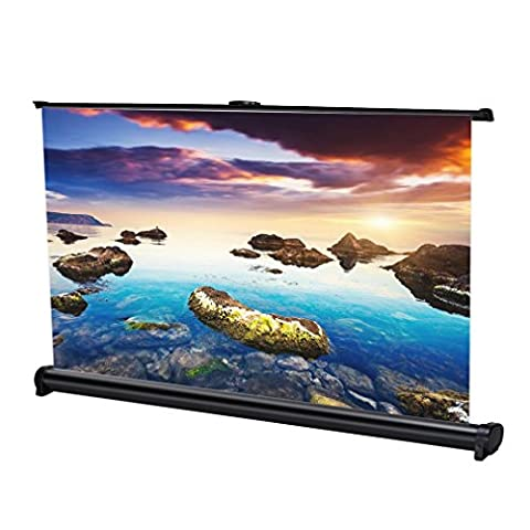 LESHP Portable 40 inch 16:9 Projector Screen Pull-Down Tabletop Projection