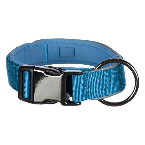 Trixie Experience Halsband, extra breit (L-XL) (Blau)