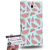 Case88 [Sony Xperia M2] 3D impresa Carcasa/Funda dura para & Tarjeta de garantía - Fruit Watermelon Pattern DSE0048