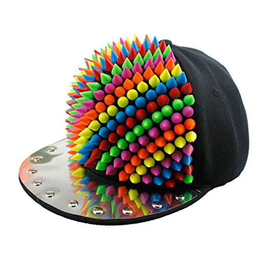 Männer Und Frauen Flach Entlang Hut Süßigkeiten Farbe All-Match Niet Hut Farbe...
