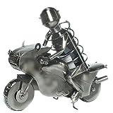 Der Wein-Flaschenhalter Flaschenständer Motorrad Biker aus Metall + 0,75l Rosé Villa Römer Rotling