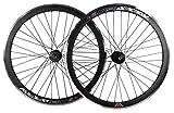 Tiefer V 43mm Fixie, Fixed Gear, Track, Single Speed Bike Räder W. Flip Flop Hubs, schwarz