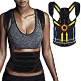 CAVN Adjustable Posture Corrector for Men Women, Back Support Belt Shoulder Lumbar Support