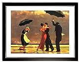 Poster Kunstdruck Bild Jack Vettriano The Singing Butler mit Rahmen PREIS-HIT!
