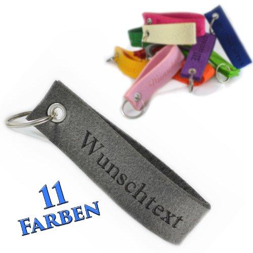 individuelle Gravur Wunsch Schlüsselband Anhänger Geschenk Filz Schmuck ( Farbe – Grasgrün )