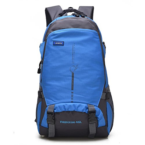 XY-QXZB Uomini Lady Large Outdoor Recreation portatile Zaino Alpinismo, Arrampicata Viaggiare Escursionismo Borsa Equitazione, Borsa a tracolla Multifunzione Affari Studenti Sport (6 colori, 58 x 35 x Blue
