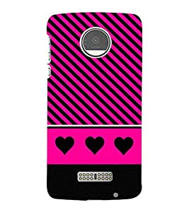 For Motorola Moto Z :: Motorola Moto Z Droid in USA hearts Printed Cell Phone Cases, stripes Mobile Phone Cases ( Cell Phone Accessories ), diagonal stripes Designer Art Pouch Pouches Covers, bright Customized Cases & Covers, girly Smart Phone Covers , Phone Back Case Covers By Cover Dunia