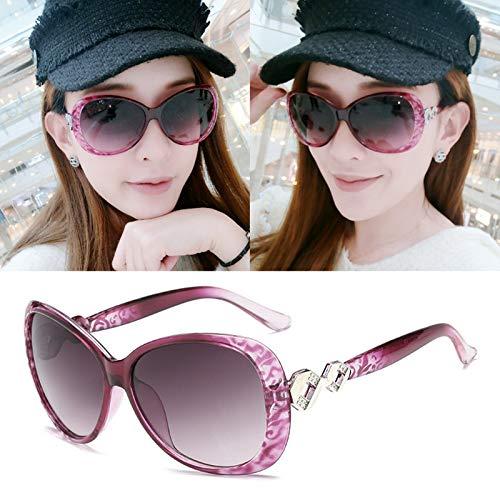 AmDxD Damen Polarisiert Sonnenbrille | Linse aus Harz | Knot Vollrand UV400 Schutz Retro Brille | Für Autofahren, Wandern, Sport - Lila