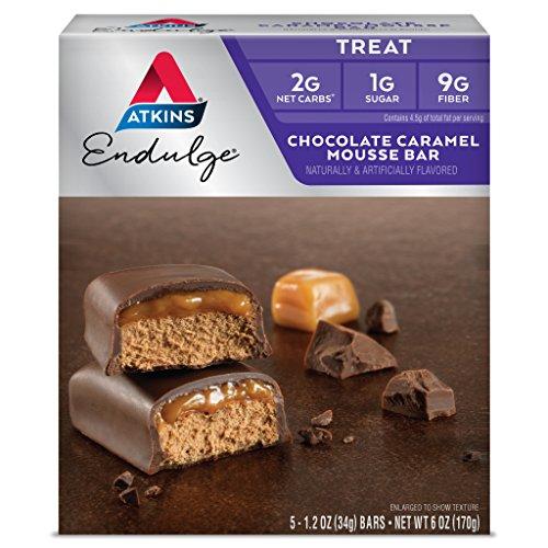 Atkins Advantage Schokoladen-Karamell-Mousse Riegel je 34 g 5 Riegel - Atkins Karamell