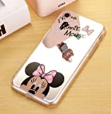Coque iPhone 7 et iPhone 8 Minnie Disney Effet Miroir Rose Coquefone