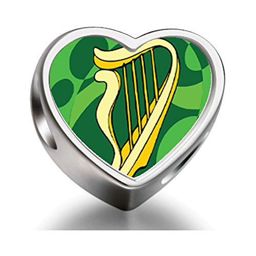 rarelove-sterling-silver-st-patricks-day-theme-heart-photo-charm-beads-with-a-celtic-harp