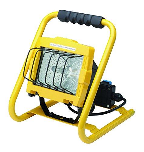 Profile 42000234Tragbarer de Chantier Halogen Scheinwerfer mit 2Steckdosen Wasserdicht Metall mehrfarbig (Metall-halogen-scheinwerfer)