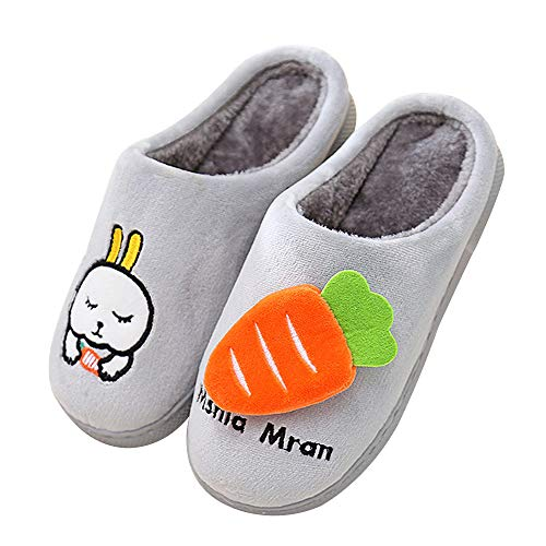 QZBAOSHU Cute Kids Slippers for Girls/Boys with Rabbit and Carrot