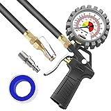 Oasser P5-A Jauge de Pression des pneus Manomètre mécanique Haute Précis Pistolet de Gonflage pour Voiture Camion SUV Moto Vélo