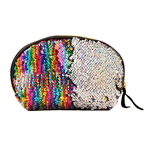 Einzigartigen Abend Handtaschen (Jinxuny Frauen Pailletten Make-up Tasche Reversible Glitter Paillette Kosmetiktasche Abend Party Clutch Handtasche (Color : Colorful))