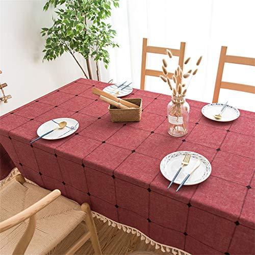 WESYYTischwäsche, ideal für Party, Catering, Vereinsfeier, GeburtstagLinen red 140 x 140cm