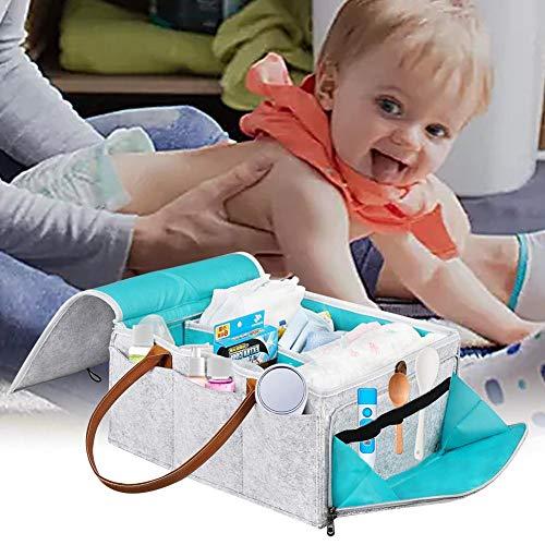 8-fach-lagerung (Huaqiang Baby Windel Caddy Organizer Falten Lagerung 8-Fach Säuglingskindergarten Tote Lagerung Portable , Auto Organizer Neugeborenen Dusche Geschenkkorb mit abnehmbarem Teiler)