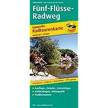 Fünf-Flüsse-Radweg: Leporello Radtourenkarte mit Ausflugszielen, Einkehr- & Freizeittipps, wetterfest, reissfest, abwischbar, GPS-genau. 1:50000 (Leporello Radtourenkarte / LEP-RK)