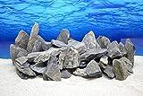 Pro Stein Aquarium Deko Natursteine schwarz grau 300-700 g Felsen Nr.65 Rückwand Pagode Dekoration Aquascaping