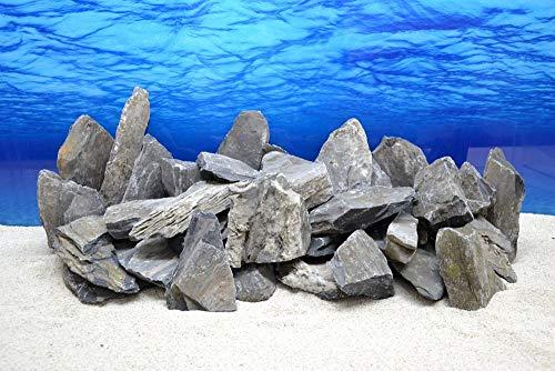Pro Stein (Pro Stein Aquarium Deko Natursteine schwarz grau 300-700 g Felsen Nr.65 Rückwand Pagode Dekoration Aquascaping)
