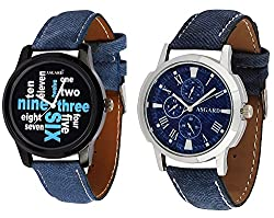 Asgard Trendy Analog Multicolour Dial Watches for Men Set of 2 - B&B-91