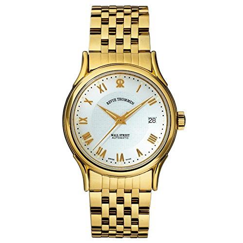 Hombre-reloj Revue Thommen Wall Street analógico rhöna con revestimiento de acero 20002.2112