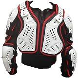 Giacca Protettiva: XTRM Adulto Motocross Enduro Pettorina Corazza Moto, Off-Road racing armatura, Rosso / Bianco (S)