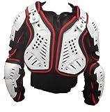 Motocross Enduro Erwachsenen Off Road Körperpanzer Jacke Motorradschutzweste XL Rot / Weiß