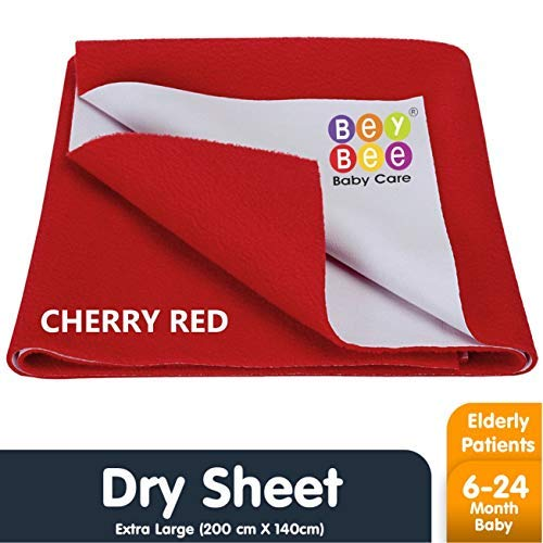 Bey Bee Quickly Dry Waterproof Double Bed Protector Sheet - X-Large (Red) Mattress Protection at amazon
