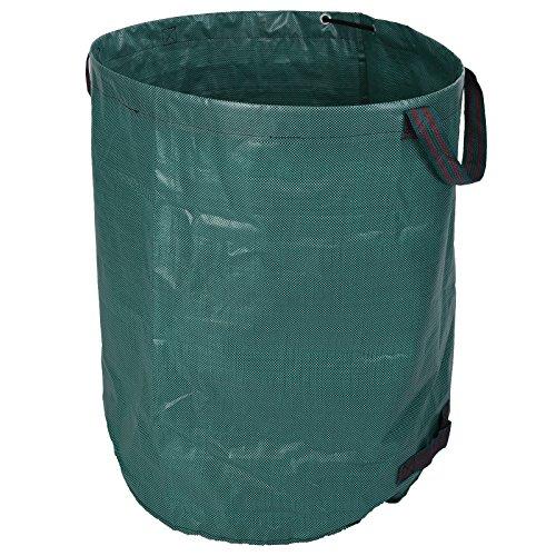Borsa rifiuti di giardino 270Liter fogliame giardino bag Ø67cmxH75cm sacchetto dei rifiuti giardino verde