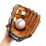 QCWN - Guanti da Baseball, per Sport e attività all'aperto, Morbidi Guanti da battitura, in Pelle Sintetica di Poliuretano, per Bambini, Ragazzi e Adulti, Bambini