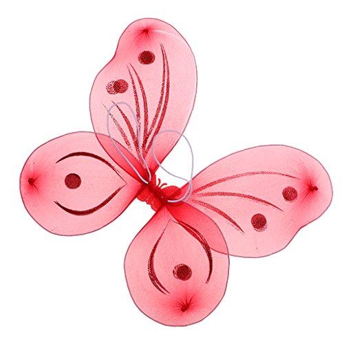Sharplace Märchen Elfenflügel Feenflügel Schmetterlingsflügel in 5 verschiedenen Farben Auswahl, Perfekt Geschenk für Mädchen - ()