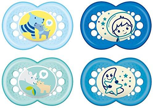 MAM Babyartikel 99970111 Day & Night Schnuller - Set 16plus Boy