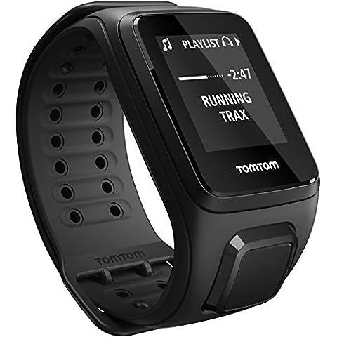 TomTom Spark Cardio Music - Reloj deportivo, color negro, talla L