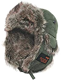 "Schott Troopers Hat ""CAP 1917"", Men's Hat, Green, One Size"