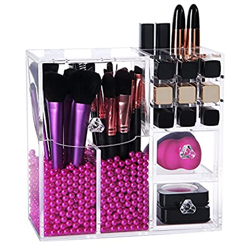 Lifewit Brush Holder Lipstick Pen Case Puff Drawer Dustproof Box