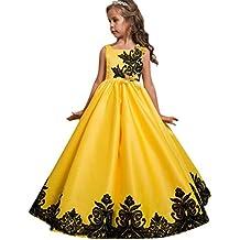 Venta caliente !Ropa para niños, FeiXiang♈2018 última flor niña princesa vestido de fiesta de los niños vestido de novia vestido formal de ballet