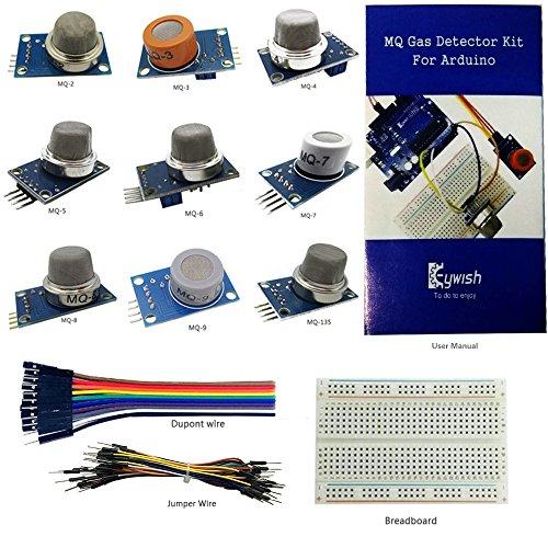 keywish-basic-9-combustible-poisonous-gas-sensor-detector-module-kit-with-tutorial-mq-2-mq-3-mq-4-mq