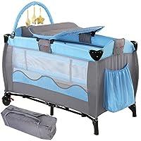 infantastic krb01blau Reisebett für Kinder, blau
