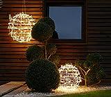 2Kugeln Weihnachten Ø40cm Ø50cm 10% Flashing Light Zubehör Innen Außen