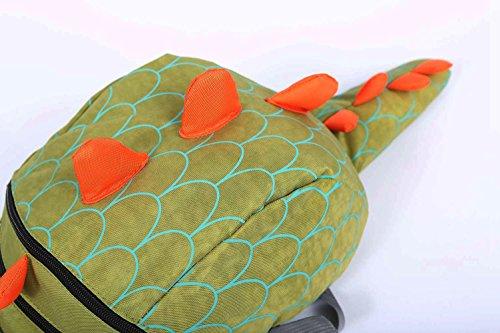 Image of ZHUANNIAN Toddler Boys Girls Dinosaur Backpack with Reins Children's Toys (Green)