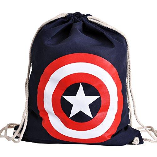 Preisvergleich Produktbild Captain America Sportbag mit Logo zum Marvel Comic Elbenwald blau