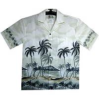 KY's   Original Camicia Hawaiana   Signori   S - 8XL   Maniche Corte   Tasca Frontale   Hawaii Stampa   Palme   Spiaggia   Verde