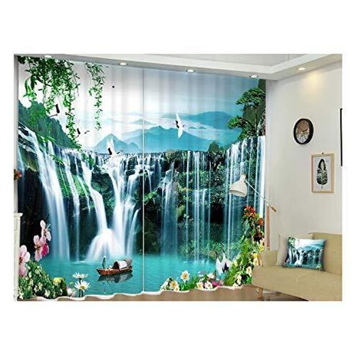Ten-tailed fox Chinesische Landschaftsmalerei Luxus 3D Fenster Vorhänge Für Wohnzimmer Schlafzimmer Blackout Vorhänge Büro Hotel Tapisserie Cortinas H210 * W280 cm