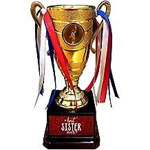 YaYa cafe Alloy Best Sister Ever Trophy Award (Golden)