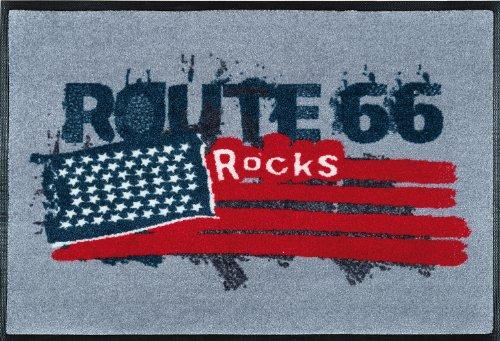 wash + dry 060581 Fußmatte Route 66 Rocks 50 x 75 cm (66-teppich Route)