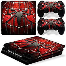 Elton Spider-Man - 3 Theme 3M Skin Sticker Cover for PS4 Pro Console and Controllers