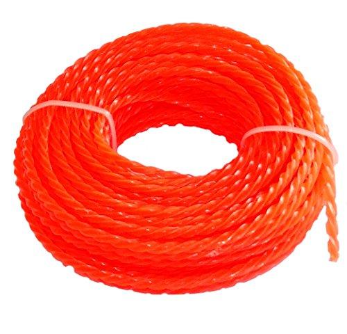 Aerzetix - Rot Sternprofil Nylongarn Rasentrimmerschnur Schnur für Trimmer Rasentrimmer weeder 3mm 15m C18553