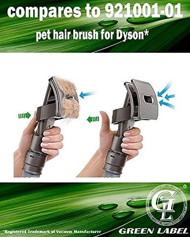 Outil de toilettage et de nettoyage. Brosse attachable entretien d'animaux pour les aspirateurs Dyson (alternative à 921000-01). Produit Green Label authentique